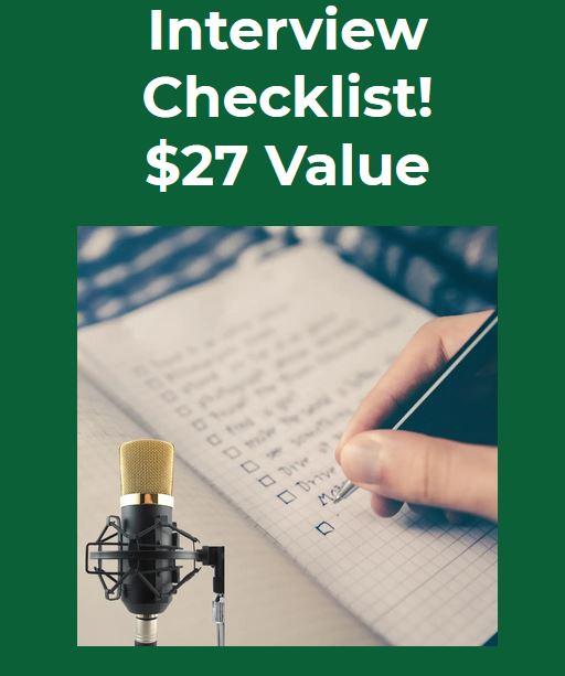 Podcast Interview Checklist